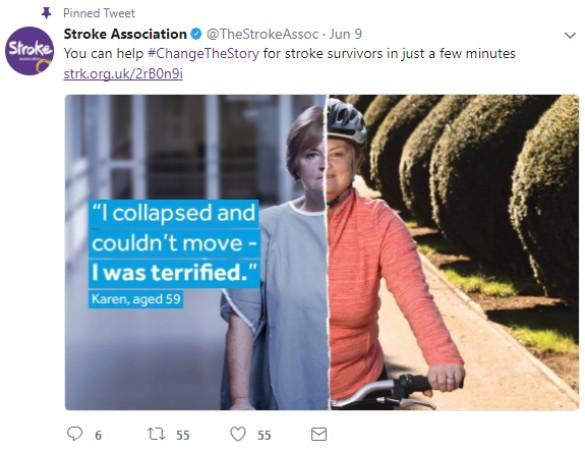Stroke association Twitter